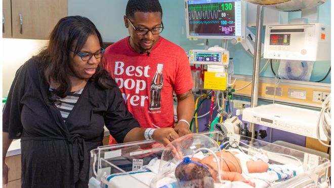 Christina Brown came into the world at Methodist LeBonheur Hospital in Germantown, Tennessee, weighing 9lb 11oz, on September 11.