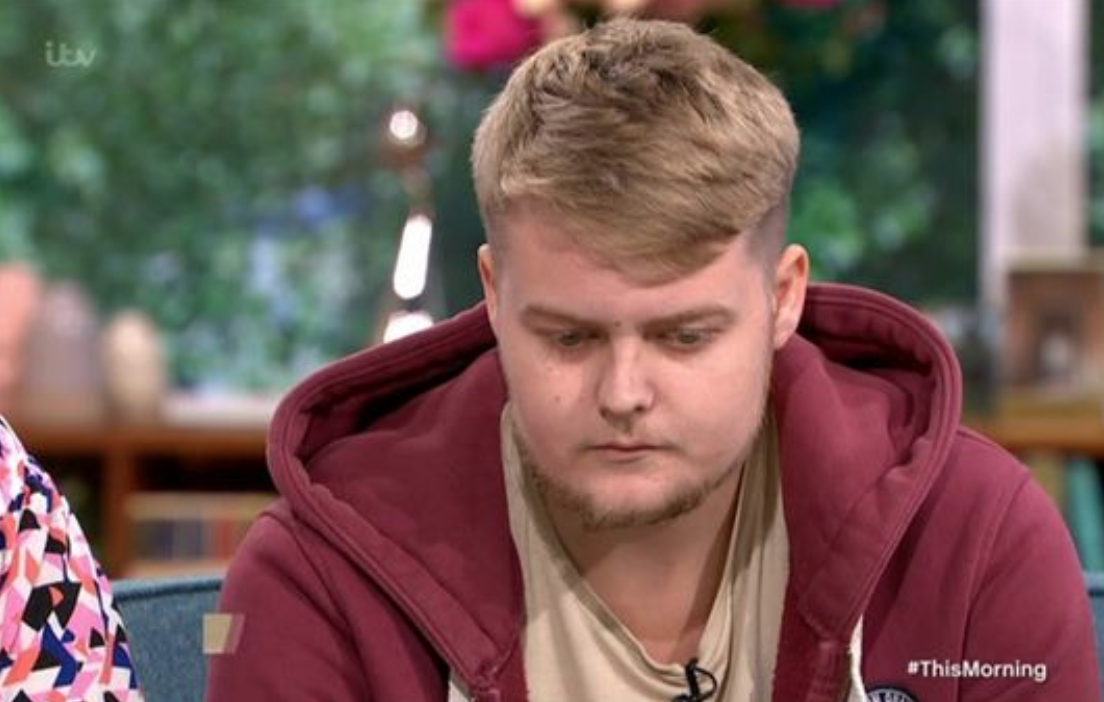 Harvey lost the sight in his left eye but hopes he will get it back soon. (ITV)