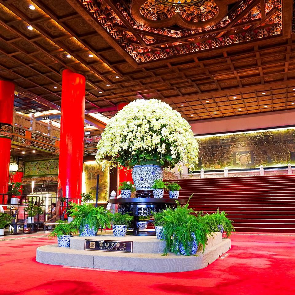 圓山大飯店大廳 (圖片來源:圓山大飯店FB)