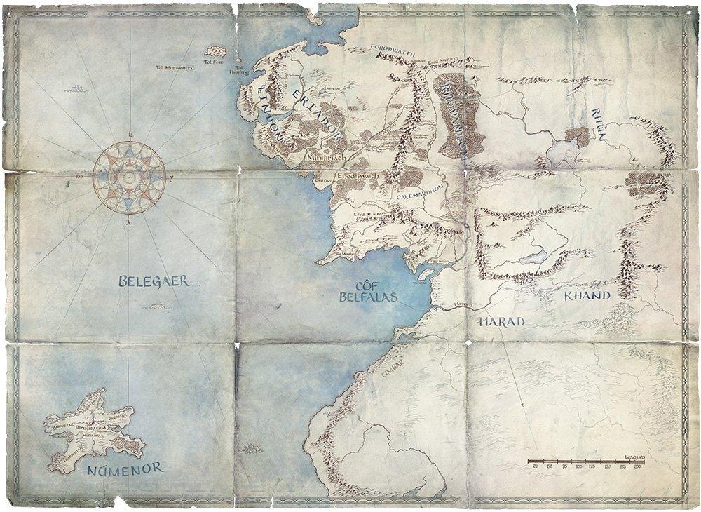 《魔戒》影集公開的地圖