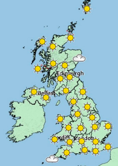 Last hurrah! Temperatures are expected to reach around 26C this weekend. (Met Office)