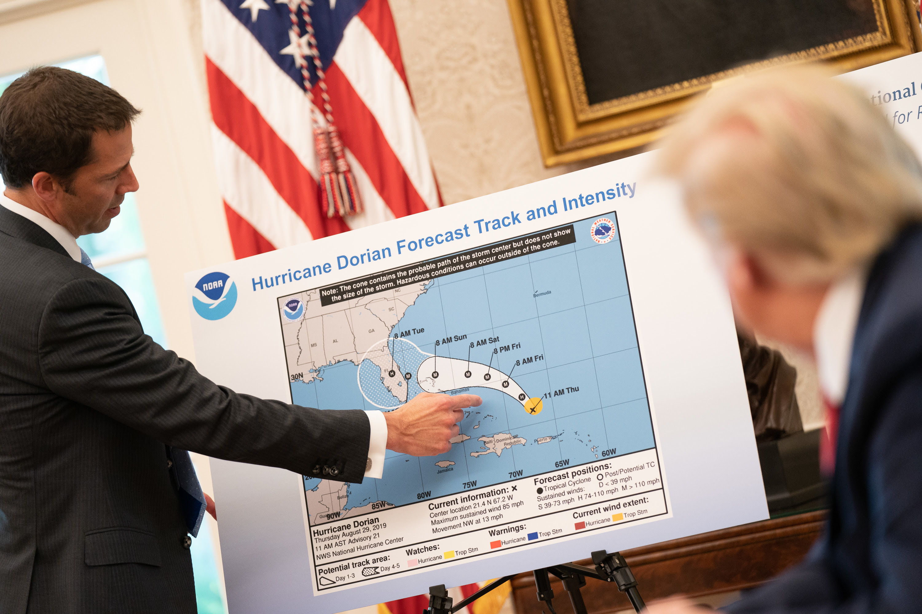 Trump refuses to concede he was wrong about hurricane forecast