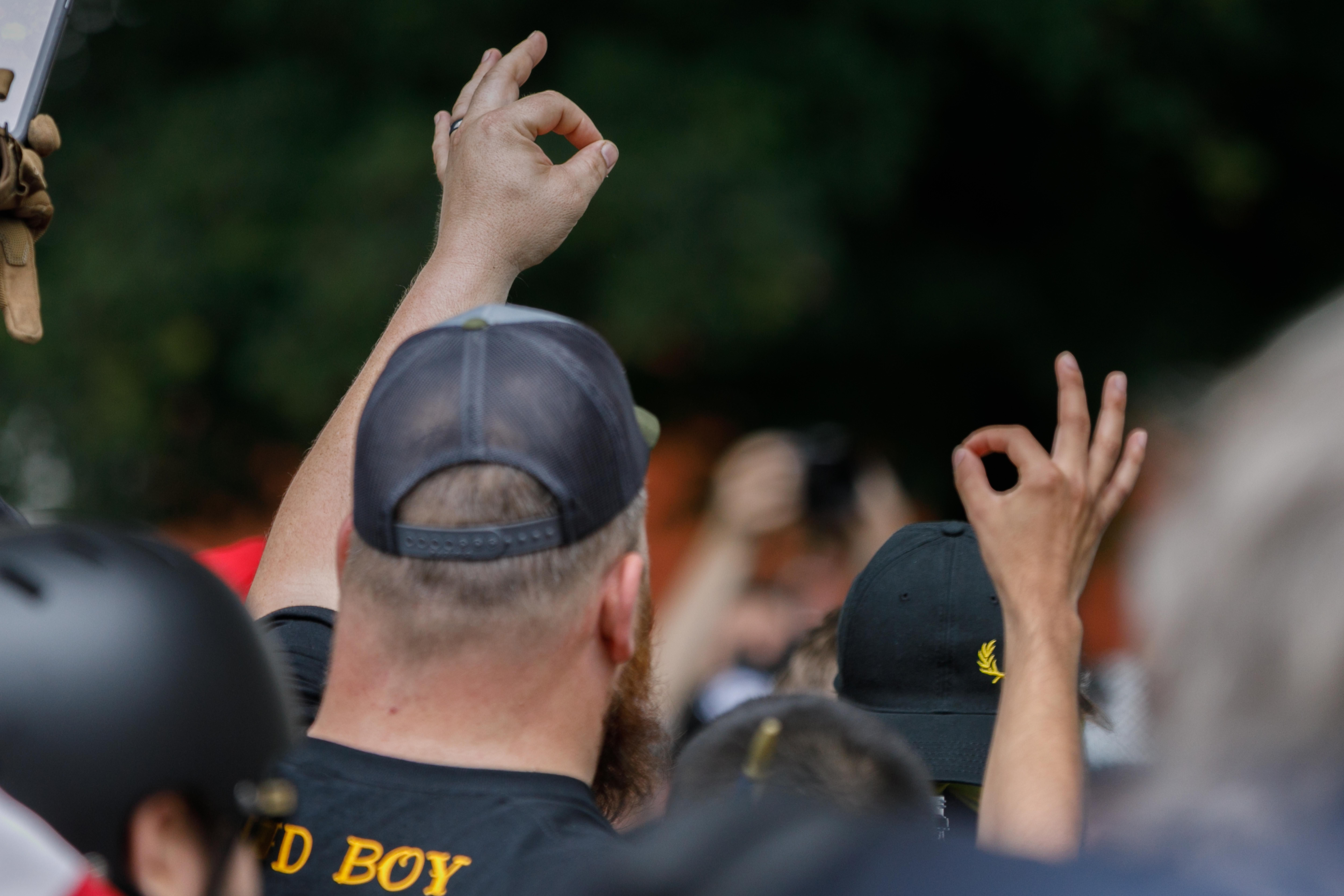 """A member of the far-right group """"Proud Boys"""" (JOHN RUDOFF/AFP/Getty Images)"""