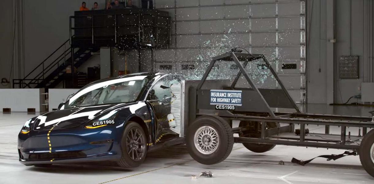 圖/2019 Tesla Model 3在六大項測試中都拿到good評級,自動緊急剎車(AEB)則獲得superior評級。