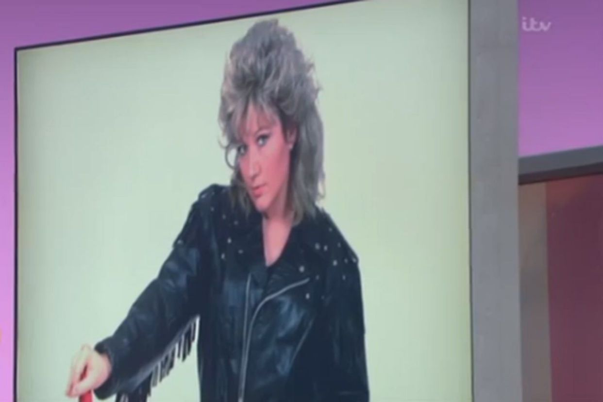 GMB used this picture of a tribute act during Bonnie Tyler's interview (Credit: ITV)