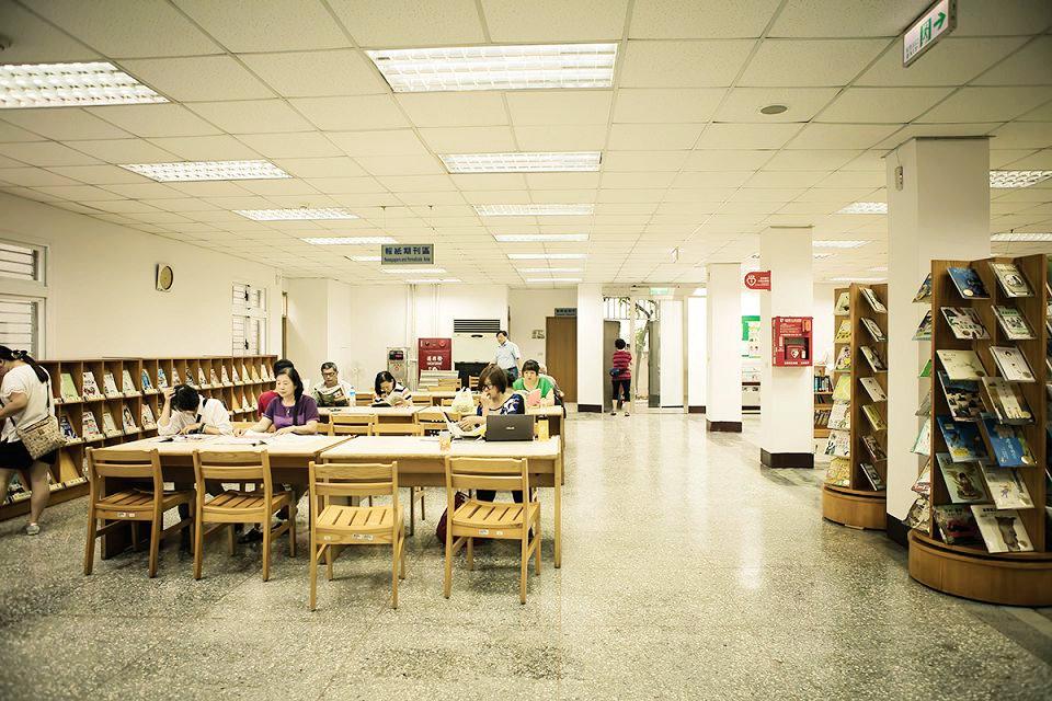 三重東區分館內部空間(圖片來源:新北市立圖書館)