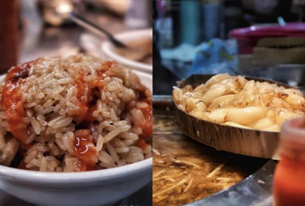 小攤只販售兩樣招牌菜色,古早味油飯和螃蟹羹。