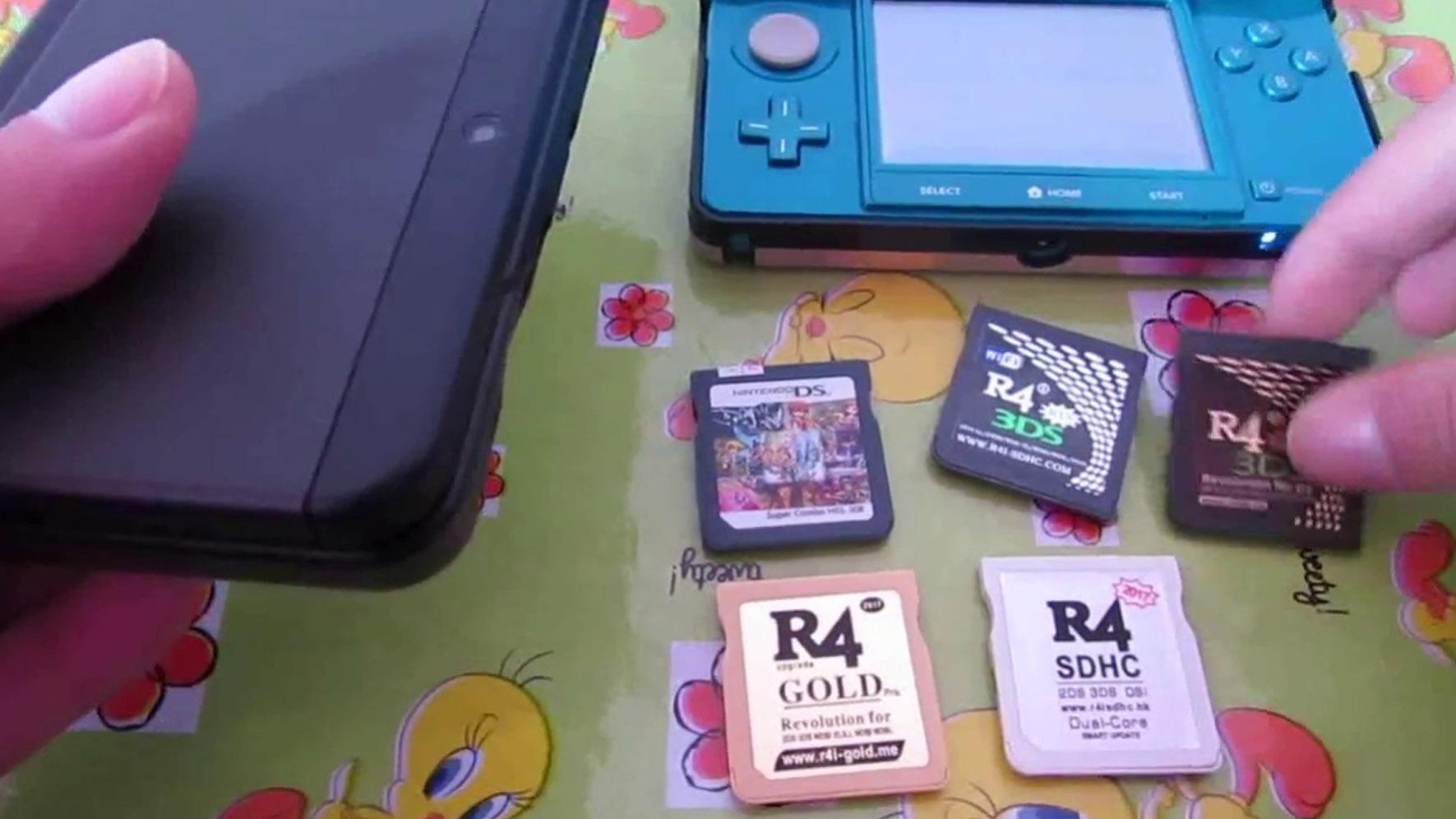 還記的當年 3DS 的盜版燒錄卡嗎,最後也在任天堂的律師團隊下一家一家倒閉。(圖源:Youtobe)