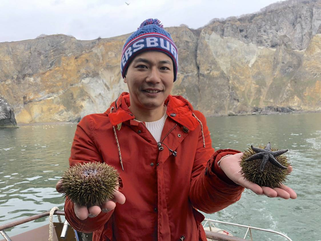 ▲刘杰中推荐喜欢吃海鲜的民众,一定要去趟俄罗斯海参崴。