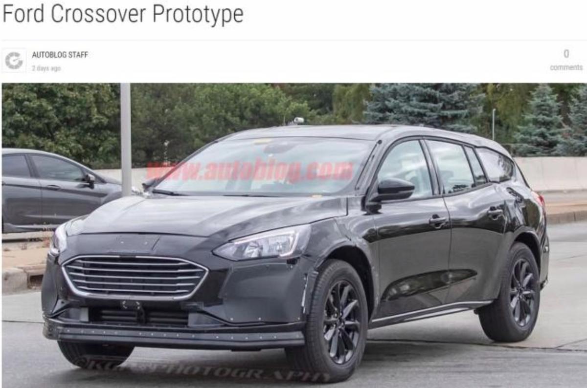 外媒拍到 Ford 全新跨界旅行車的偽裝測試照。