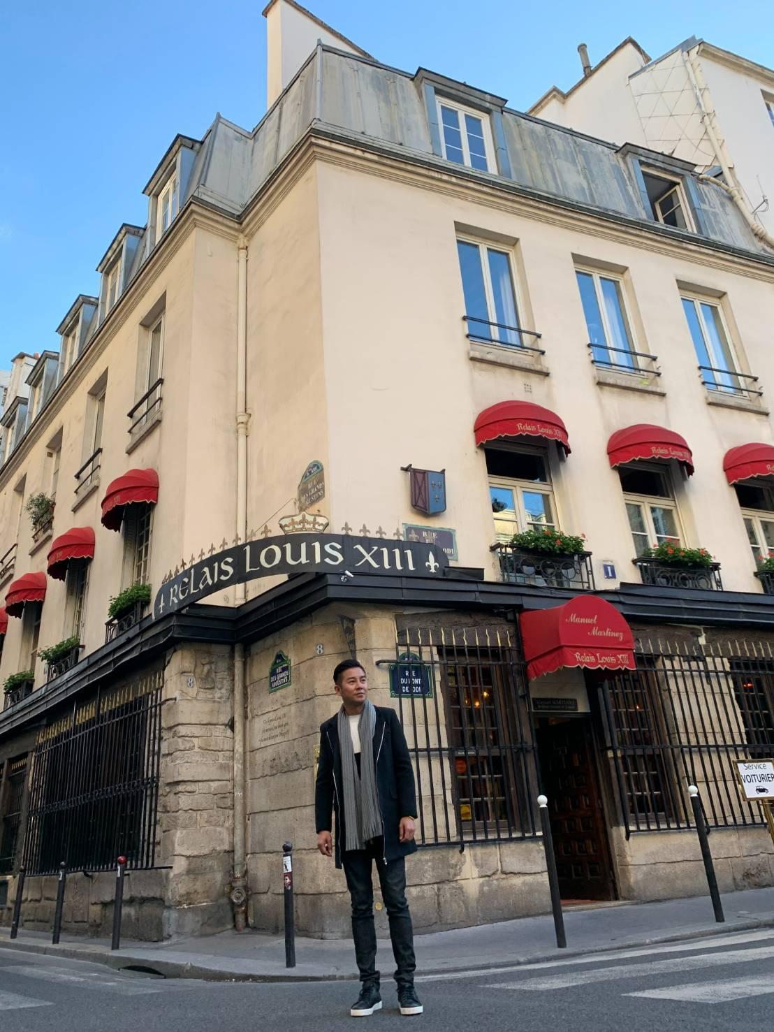▲除了逛當地的超市,他們也吃了幾間米其林餐廳,Relais Louis XIII是其中一家。