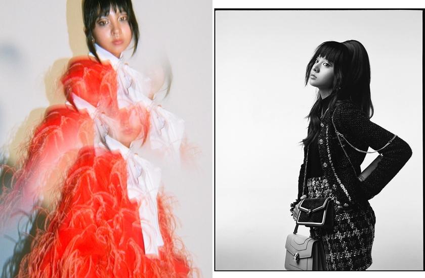 木村光希這組造型被不少粉絲認為根本偷穿媽媽衣服。