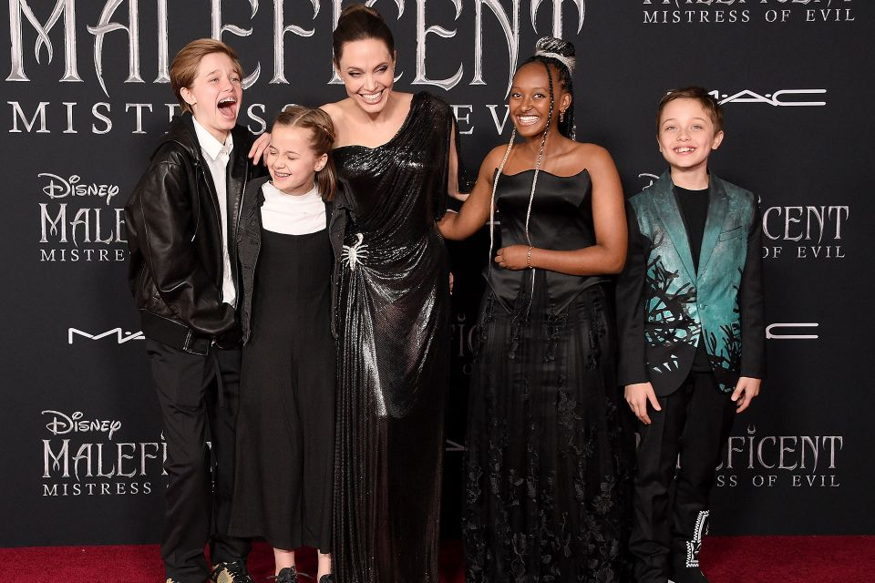 最吸睛的則是安潔莉娜裘莉Angelina Jolie這場首映帶上了自己的五個孩子