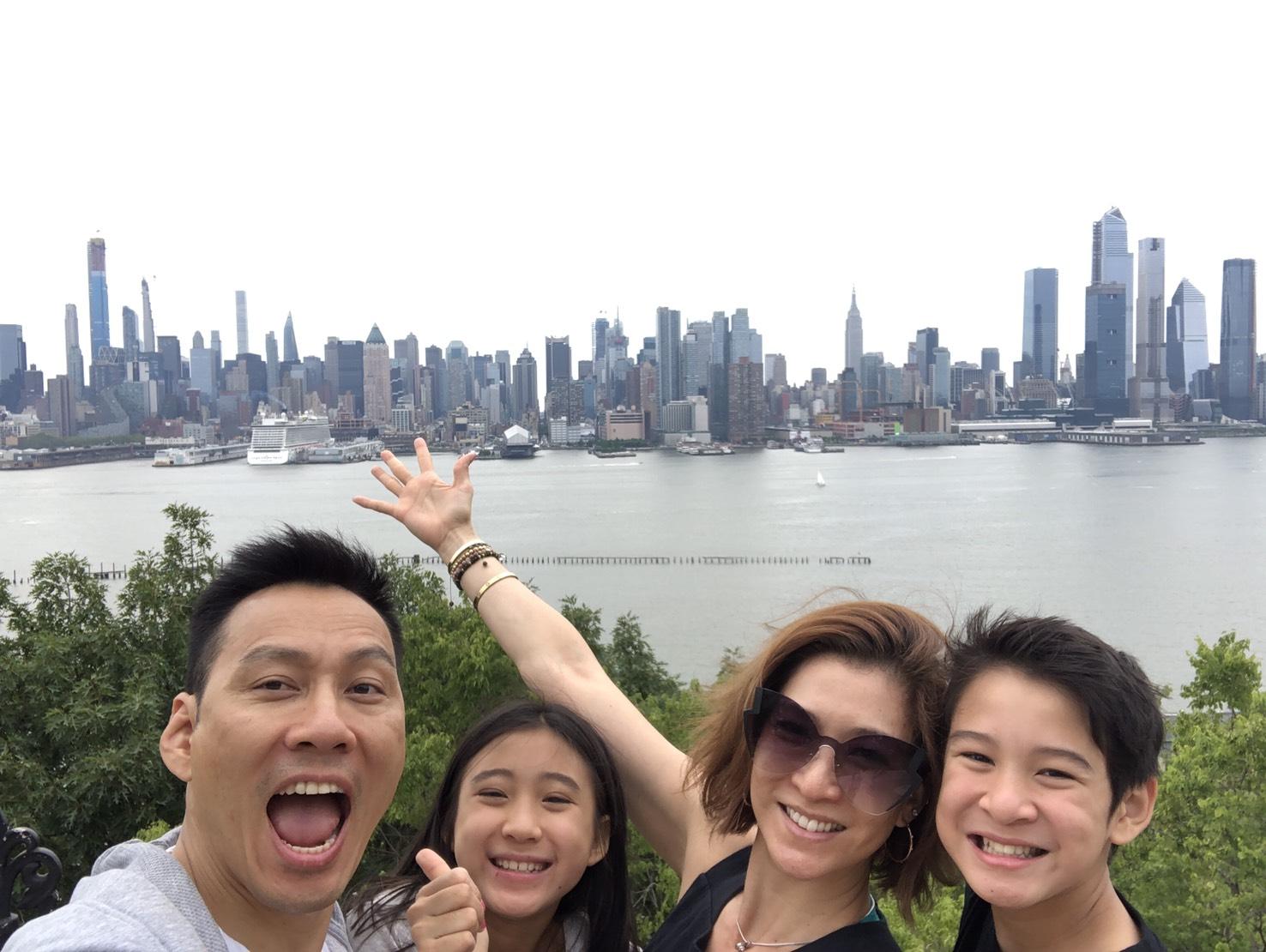 ▲艾力克斯和李詠嫻帶孩子們展開長達八個星期的美國東岸旅遊。
