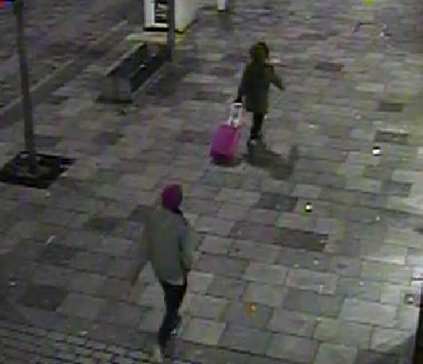 CCTV captures Peter Hills following his teenage victim through Plymouth before attacking her (SWNS)