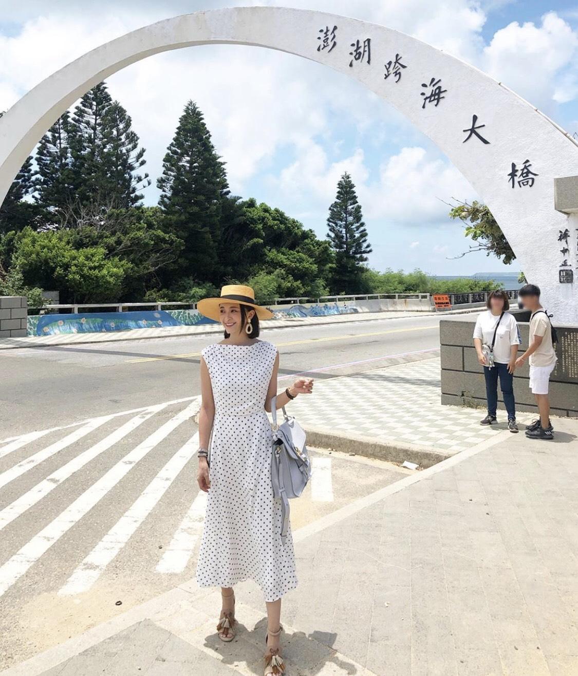 ▲薛妞妞很享受這趟與先生的澎湖旅遊。