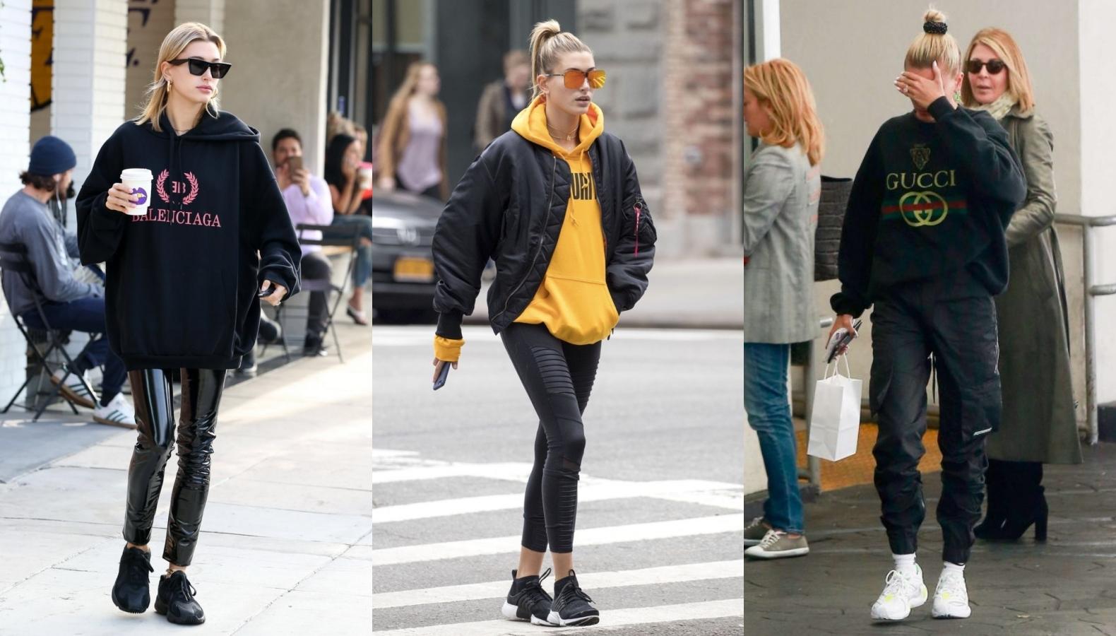 好評不斷的新手人妻Hailey Bieber連穿搭都討喜!不賣弄的『剛好性感運動混搭風』女生也大讚
