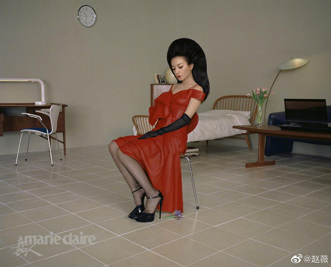 趙薇拍時尚雜誌挑戰新造型!卻被網友 kuso 激似「埃及法老王」