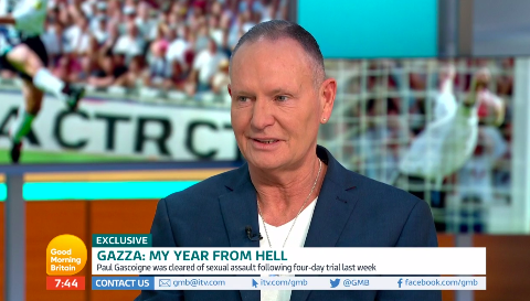 Paul Gascoigne opened up about his court case on GMB (Credit: ITV)