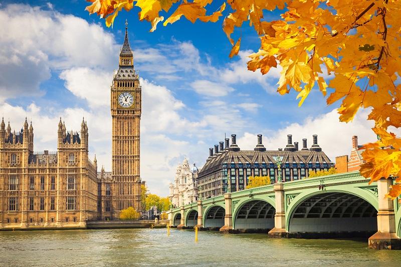 倫敦浪漫的秋景(圖/shutterstock.com)