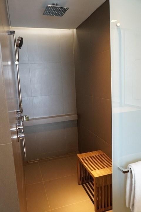這間基本房只有淋浴間,沒有浴缸。