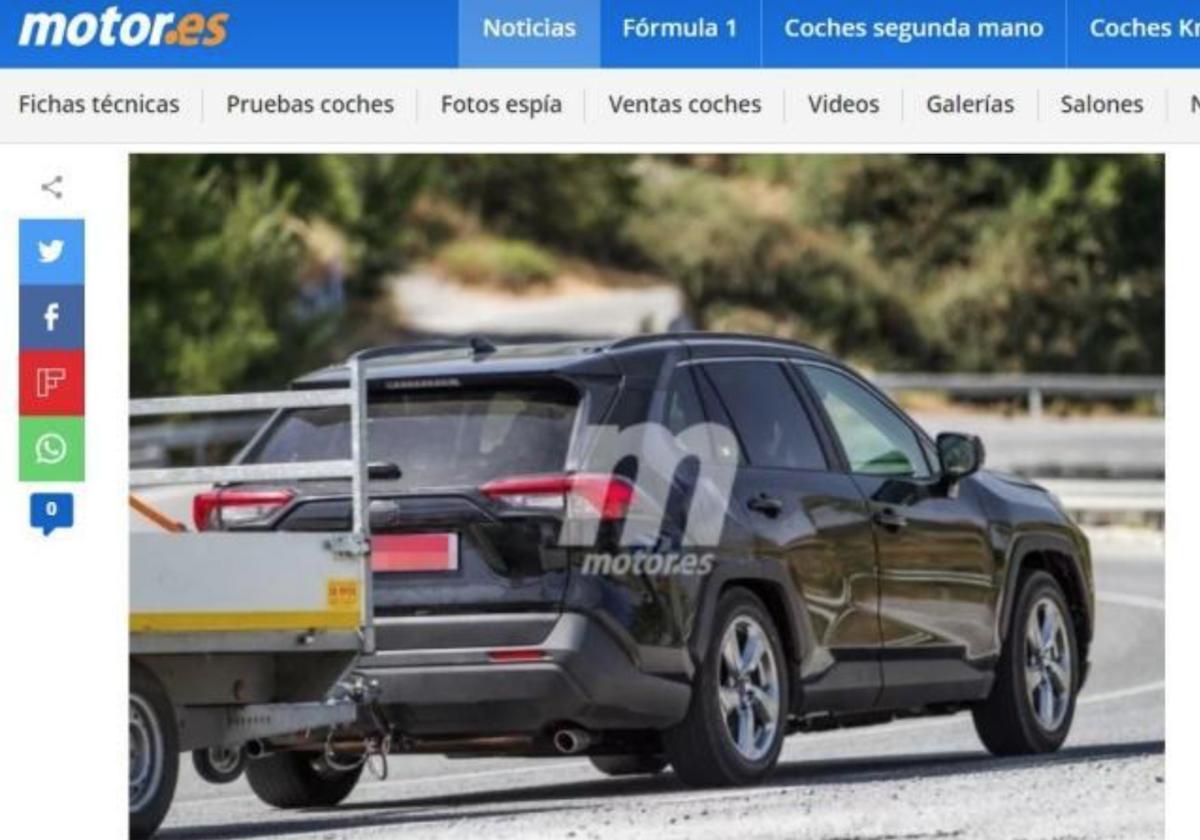 此為外媒《Motor.es》今年 8 月捕獲的 Toyota RAV4 PHEV 測試車。