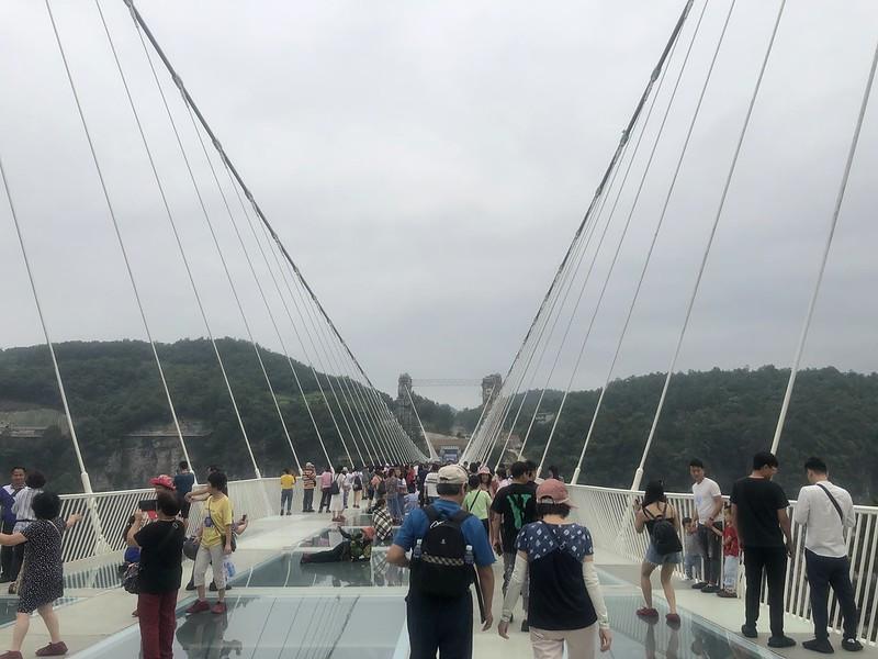張家界大峽谷玻璃橋「雲天渡」
