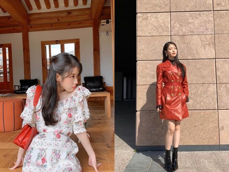 IU在《德魯納酒店》中復古又浪漫的穿著風格引起話題討論。(截自IU IG)