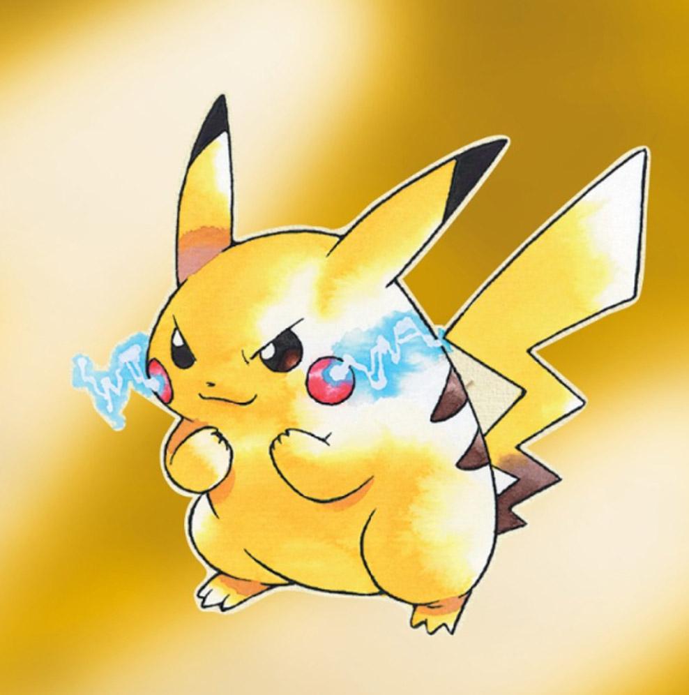 早期的造型更像是老鼠(圖源:Pokemon Yellow)