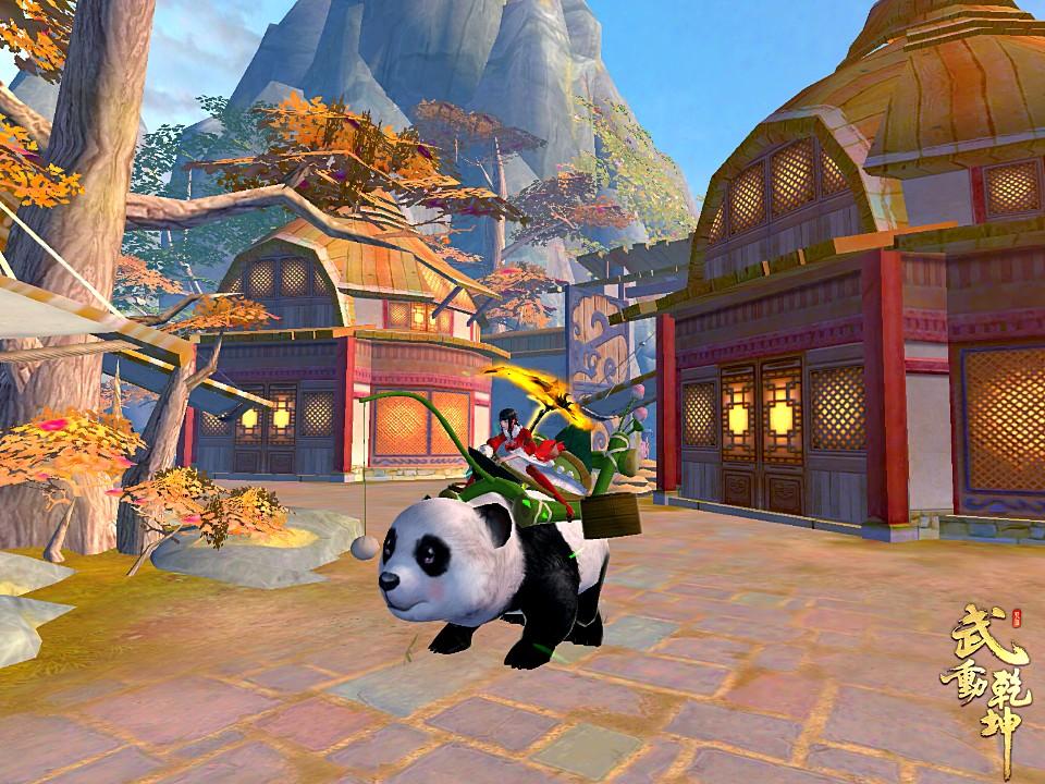 ▲呆萌可愛的熊貓只盯著眼前的包子,毫無二心