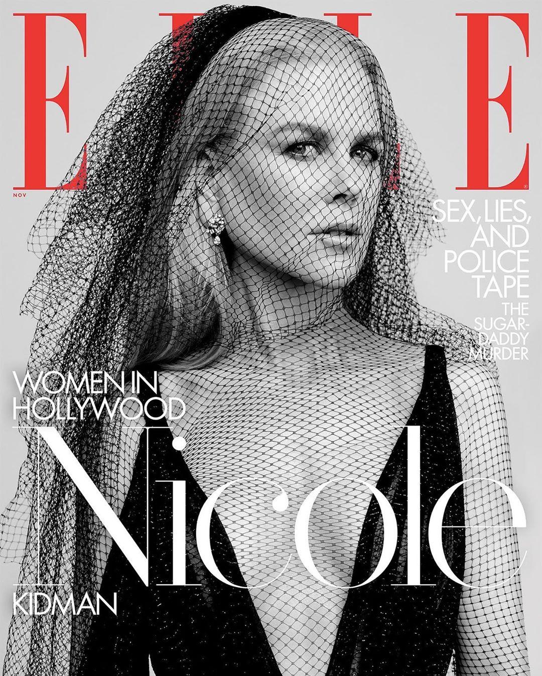 妮可基嫚登上美國版時尚雜誌封面,大秀性感好身材。