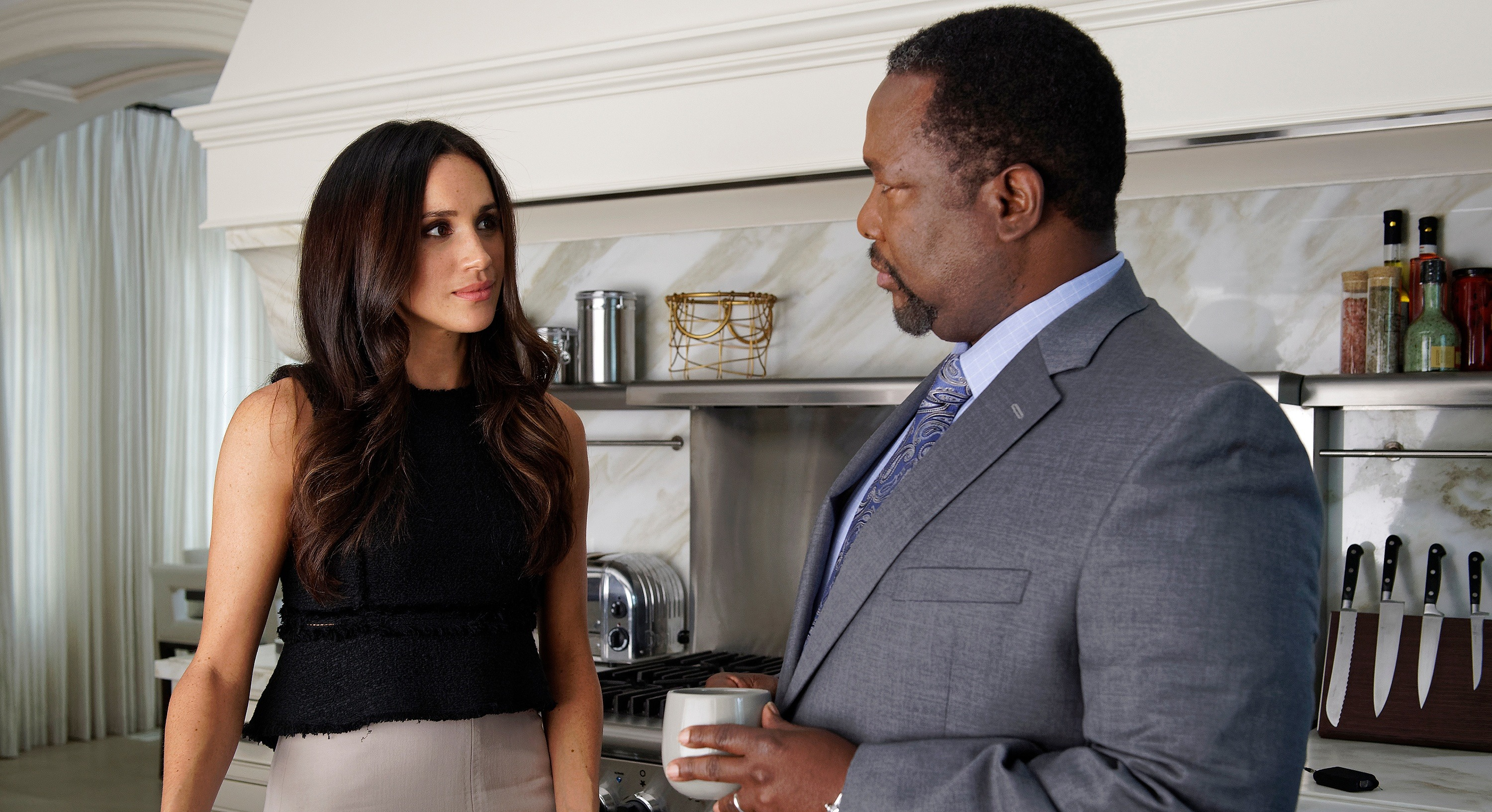 """Meghan Markle's on-screen dad Wendell Pierce revealed her life would be """"forever changed"""" by Prince Harry [Image: Getty]"""
