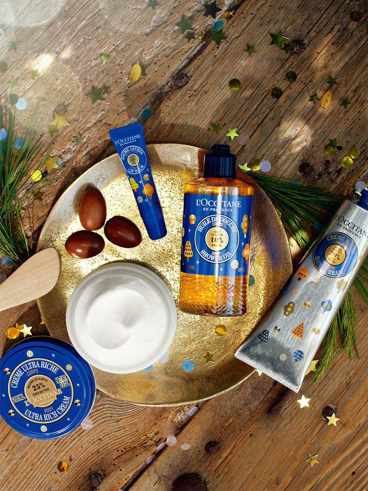 經典湛藍包裝的夢想乳油木系列、交織暖橙的夢想乳油木蜂蜜系列