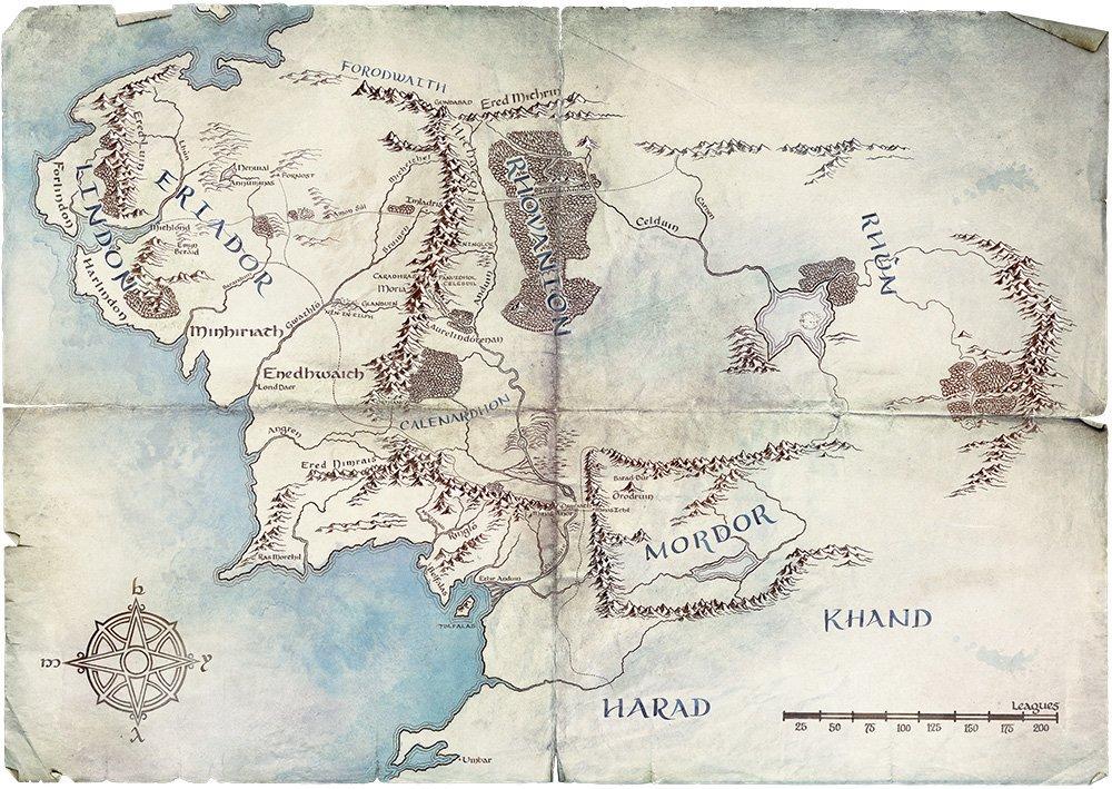 《魔戒》影集官方公開故事地圖