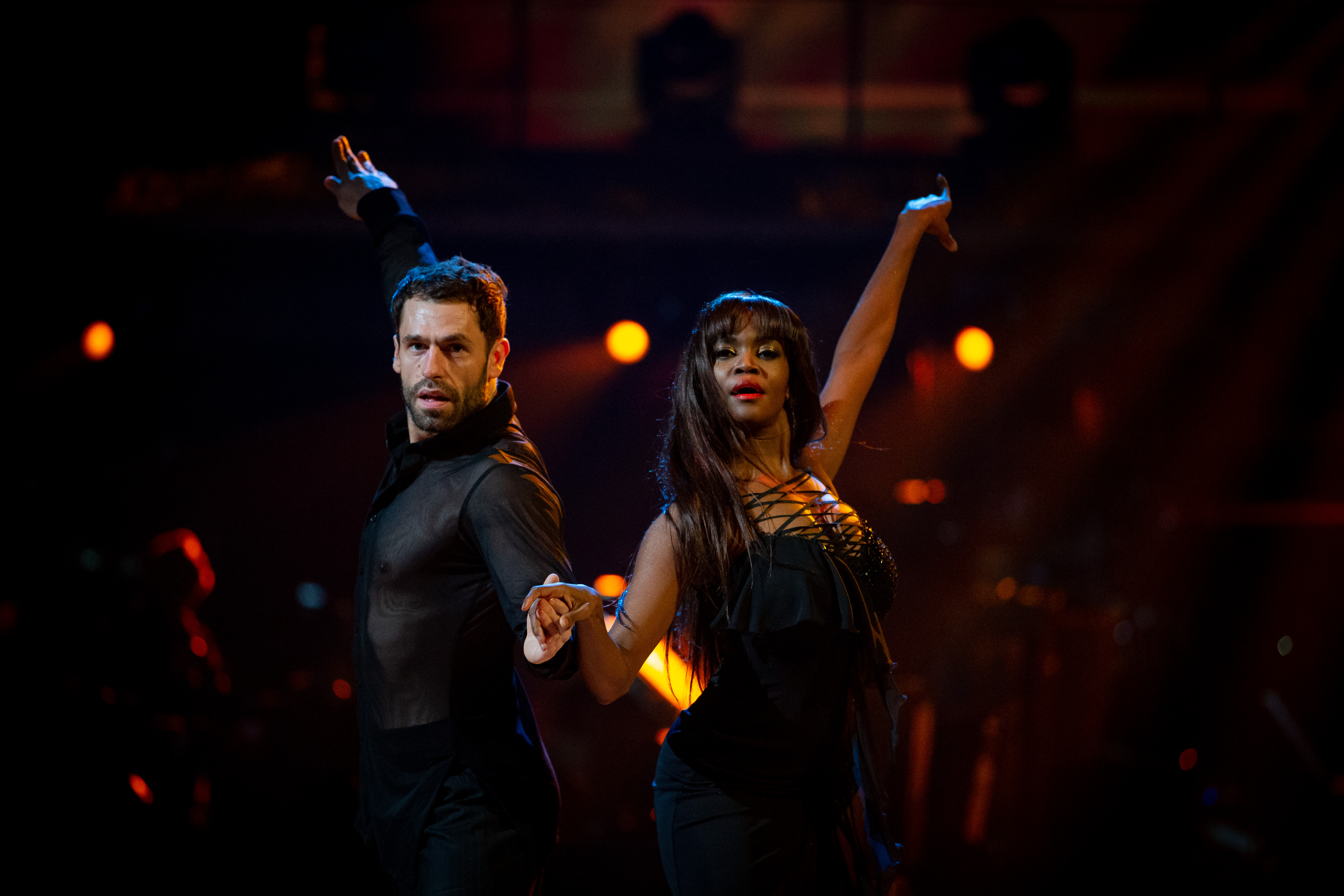 Kelvin Fletcher is paired with Oti Mabuse (Credit: BBC)