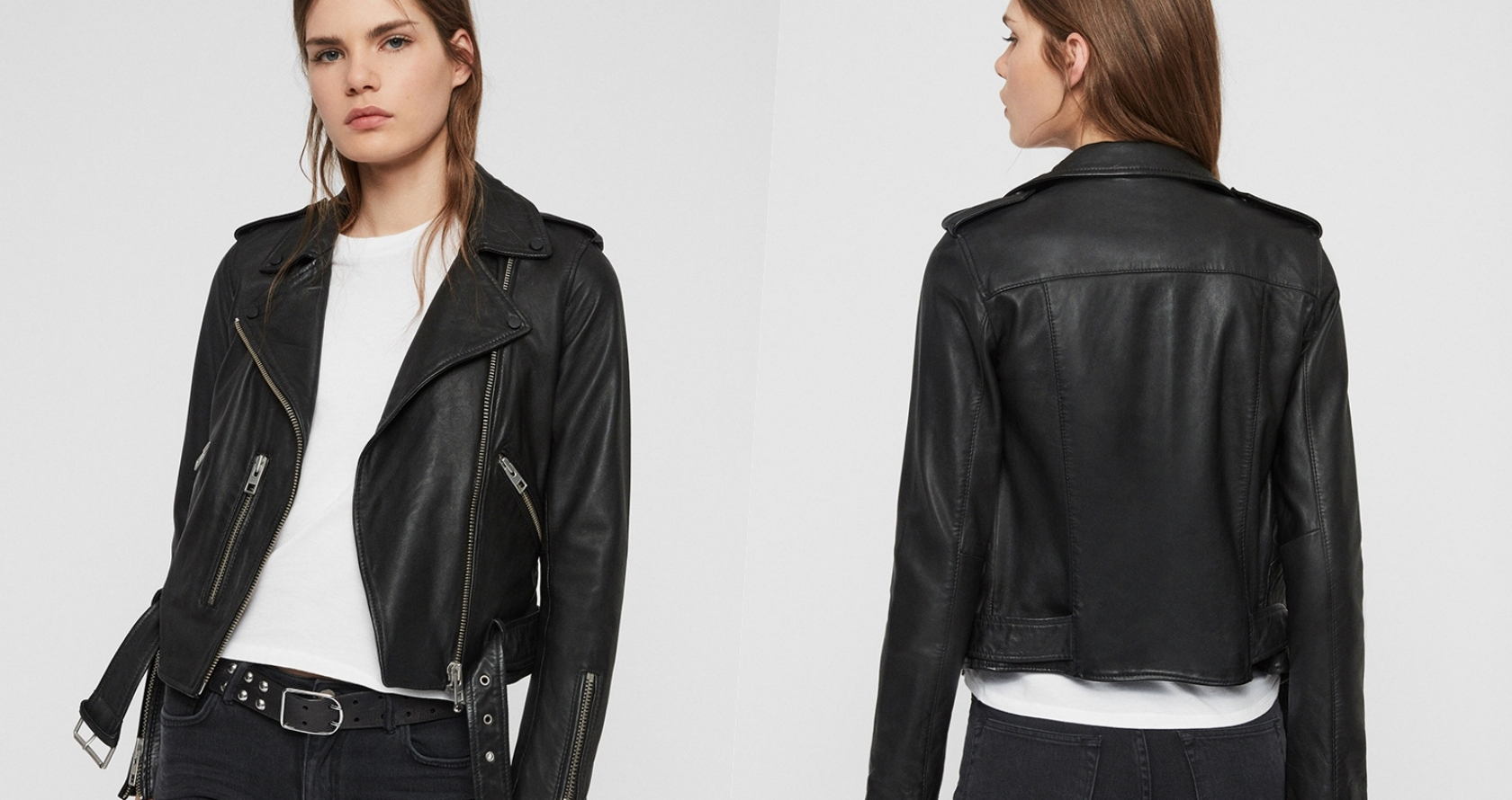 All Saints最熱賣、最經典的皮衣款式之一,BALFERN BIKER將經典的騎士夾克