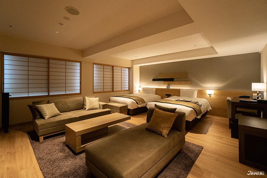 絕對舒適大空間的豪華頂級雙人套房