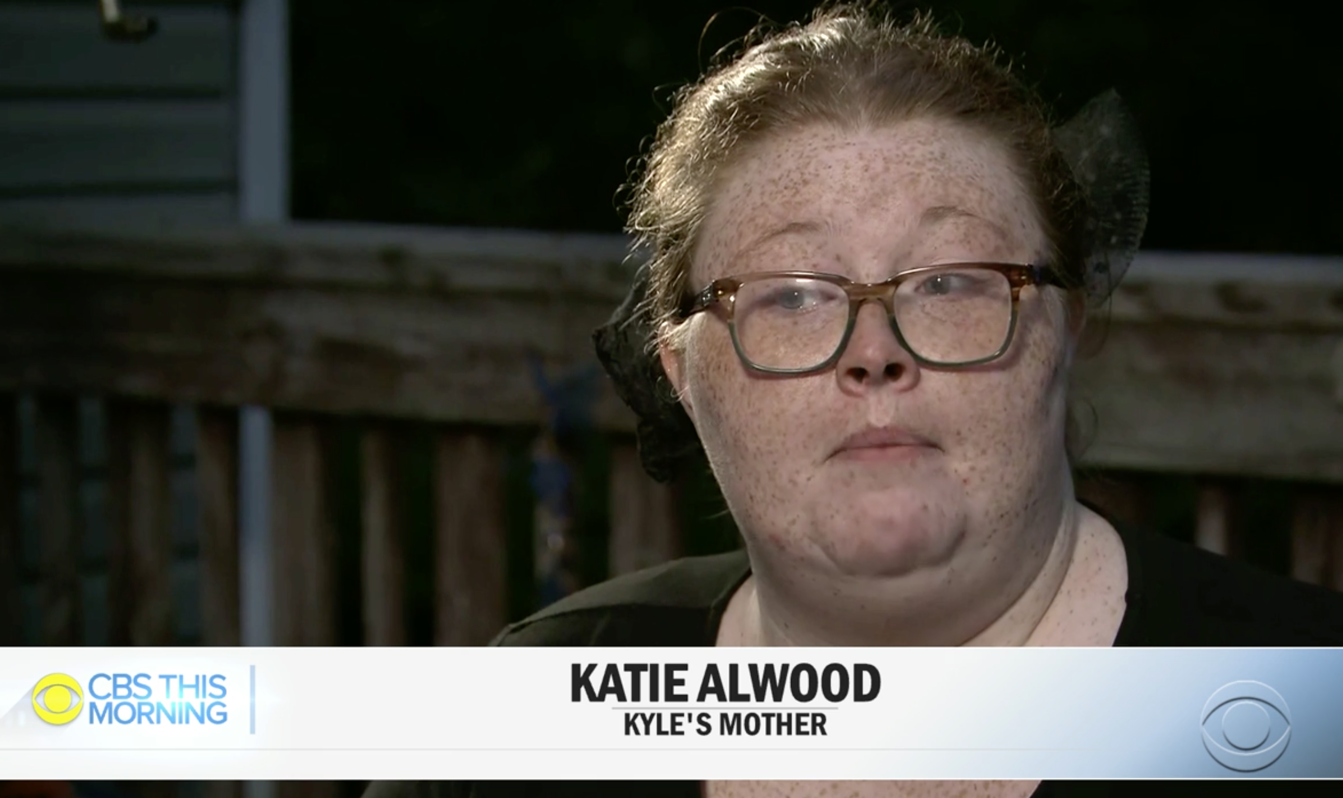 Katie Alwood said she had forgiven her son, who has been charged with five counts of murder (Picture: CBS This Morning)