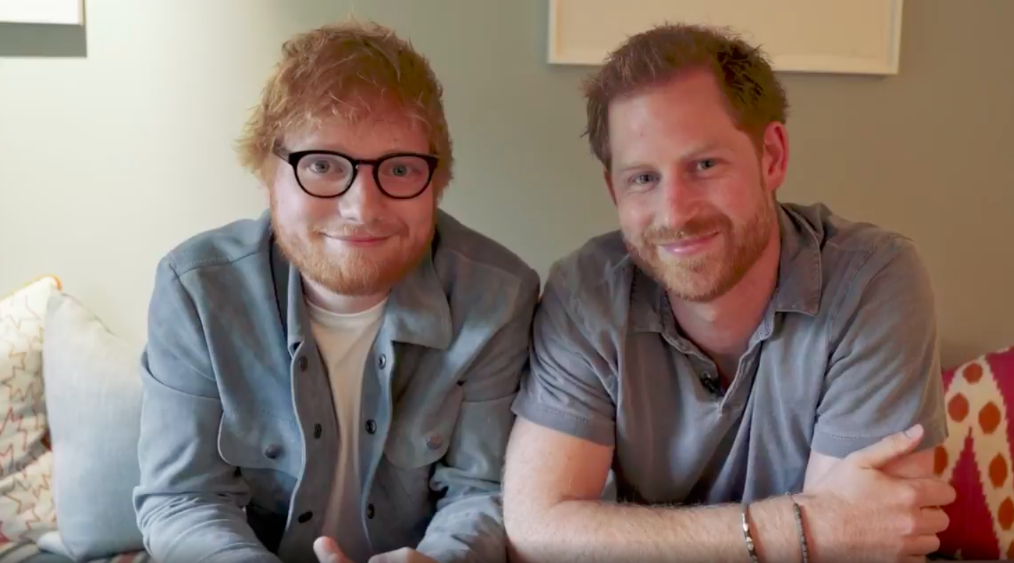 Prince Harry and Ed Sheeran have teamed up for World Mental Health Day [Photo: Instagram/@sussexroyal]