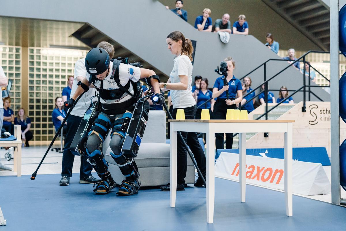 Powered Exoskeleton Race Demo