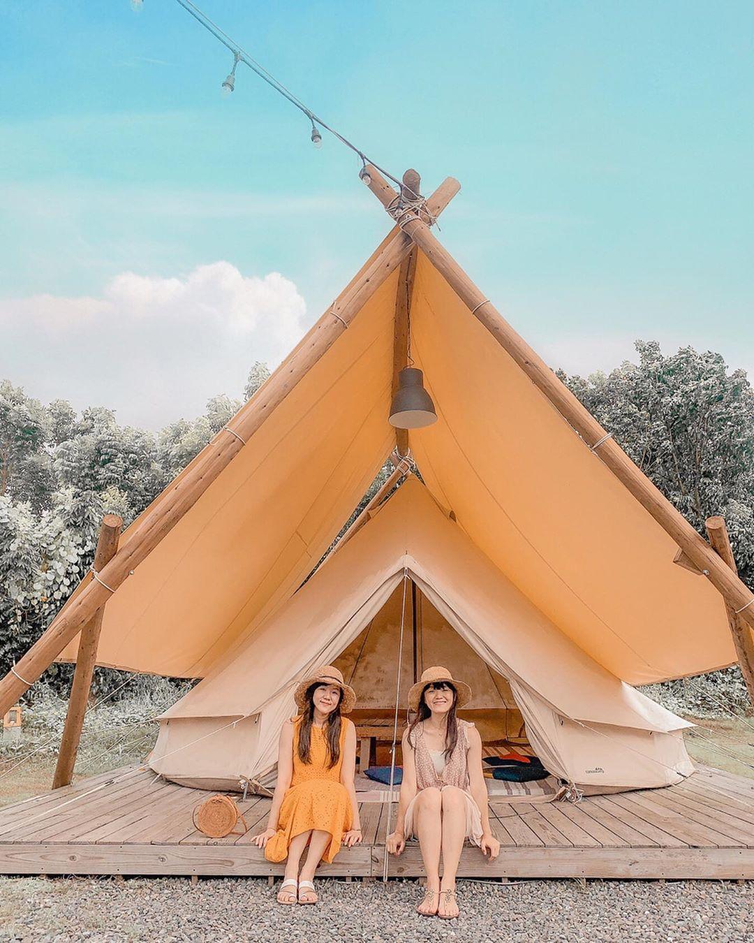 美美的露營帳篷,網美拍照怎麼能錯過!
