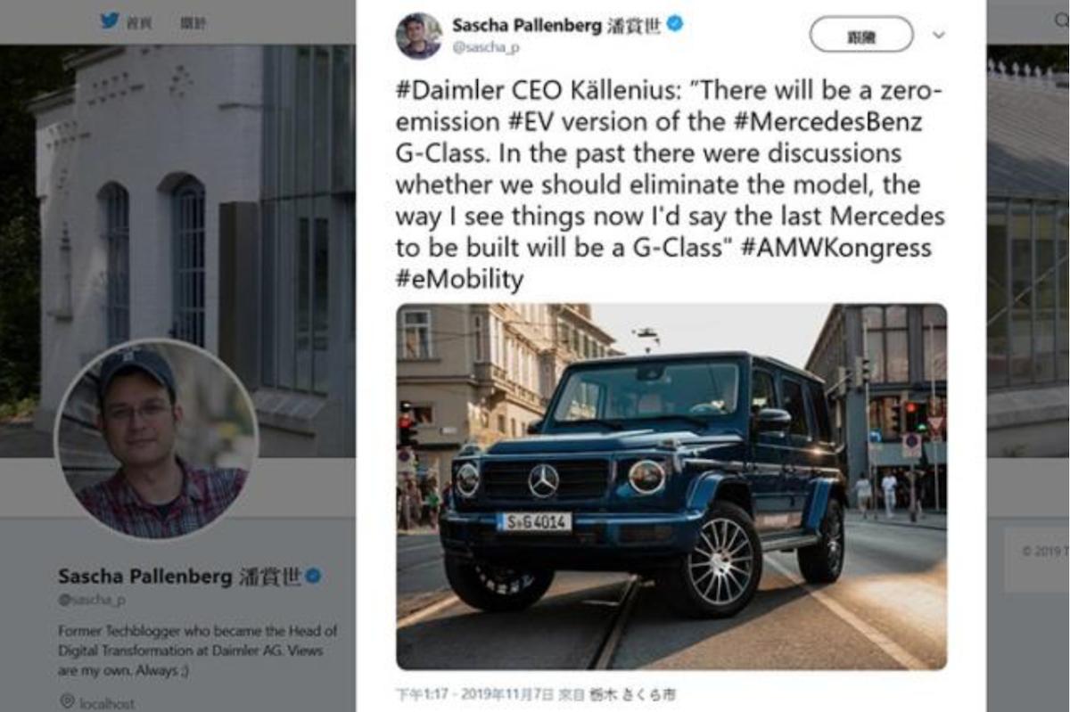 Mercedes-Benz 執行長表示,G-Class 將會有 EV 電動車型。