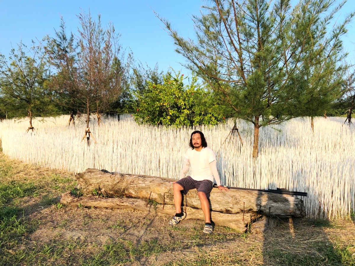 坡白留青,游文富的地景藝術(圖片來源:東北角暨宜蘭海岸國家風景區)