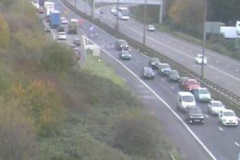 Motorists were driving down the wrong way of the M5 (Picture: Highways England)
