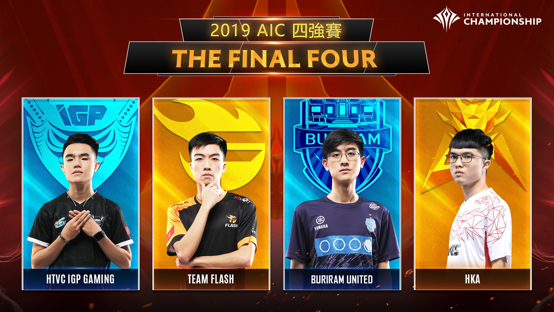 ▲【2019 AIC國際賽最終四強隊伍】