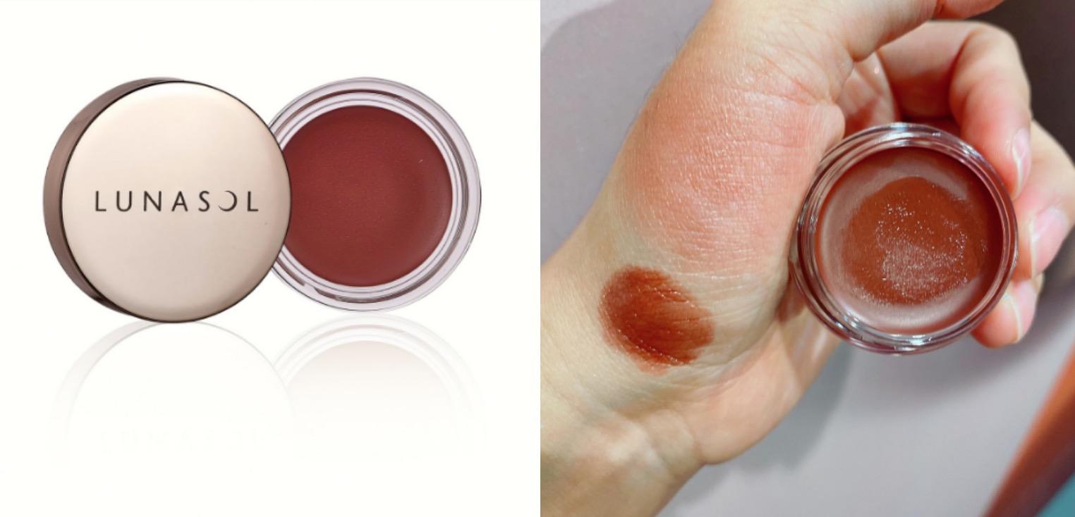 唇頰霜薄擦就是大家最喜歡的血紅色感,但厚擦又可以變成顯白酒紅棕