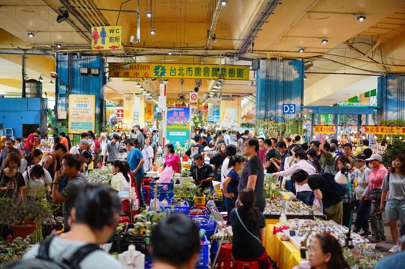 圖/台北市農會與展售農民互相合作,每星期六、日上午9時至下午6時,在建國南路高架橋下綿延約一公里,百花奇木在此集中展售