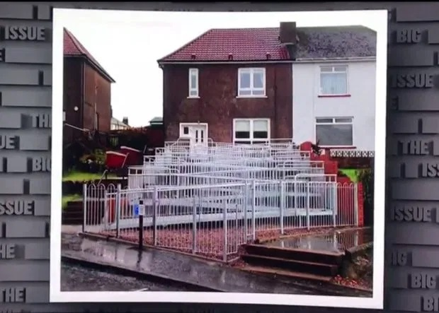 The 60 metre wheelchair ramp (Credit: Sky One)