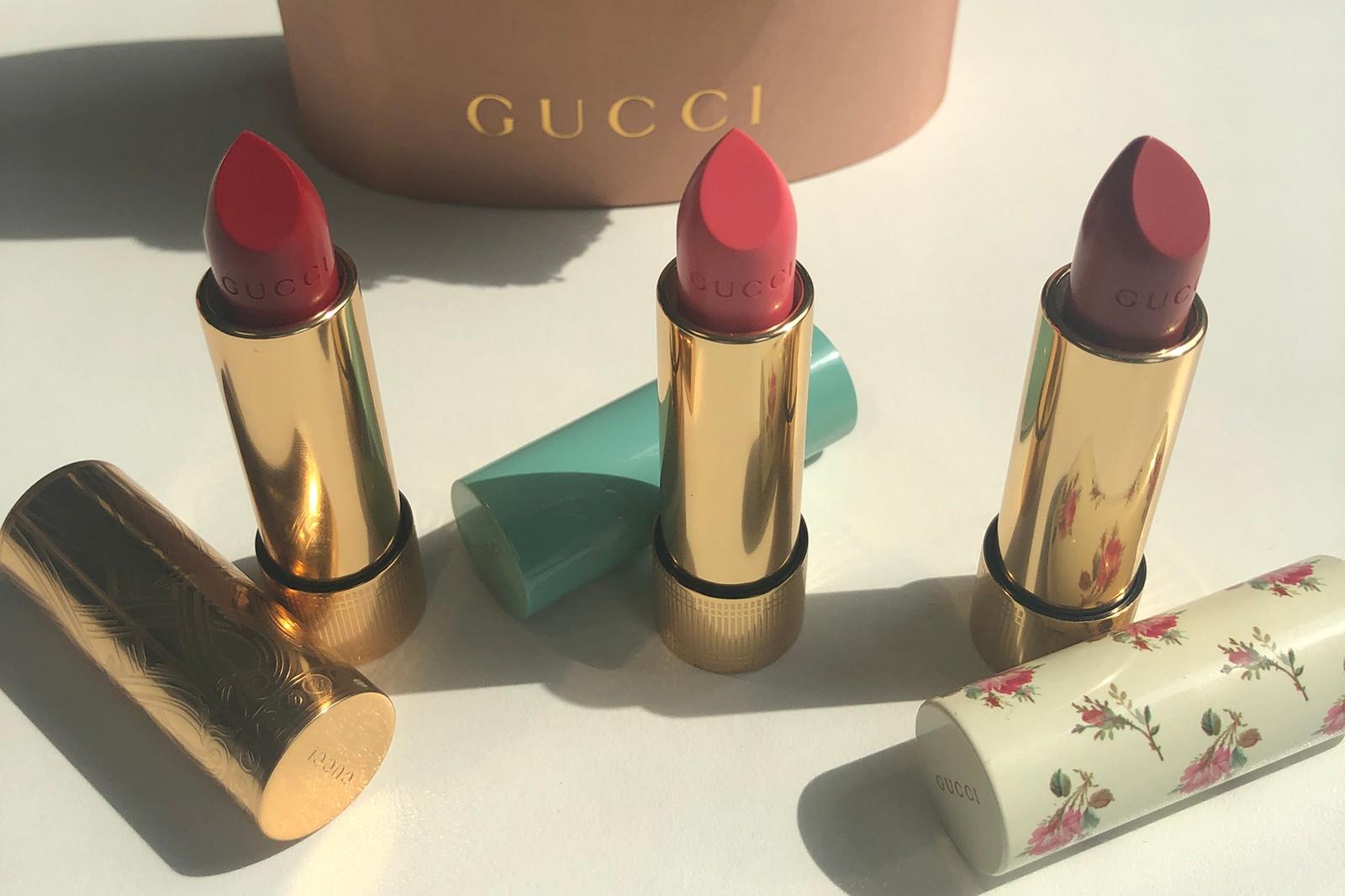 GUCCI全新系列藝術品一般的唇膏,共有三款質地可以滿足不同唇彩需求,美到心花開不止