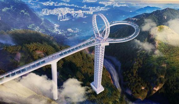 圖/挑戰世界紀錄「離地垂直高度有 166 層樓高」